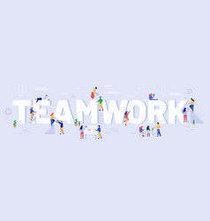 teamwork team work communication and vector image