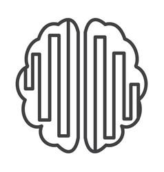 thin line brain icon vector image