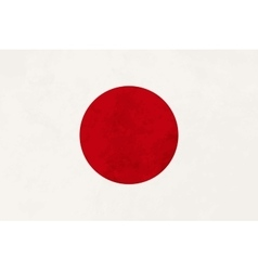 True proportions Japan flag with texture vector