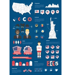 United states infographic set vector