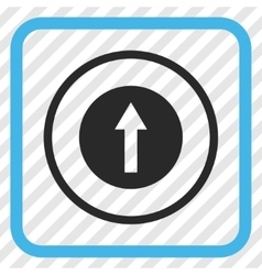 Up Rounded Arrow Icon In a Frame vector