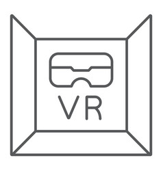 vr room thin line icon gaming and technology vector image