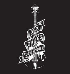 with guitar tape and text vector image