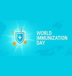 World immunization day concept flat style vector