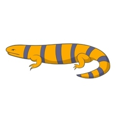 Yellow lizard icon cartoon style vector