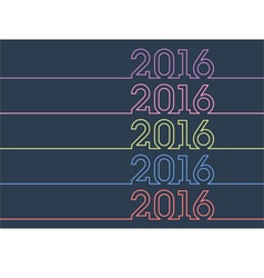 colorful new year 2016 vector image vector image