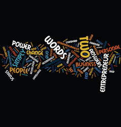 entrepreneurialism the power of the what if text vector image