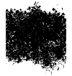 grunge abstract pattern in black over white vector image vector image