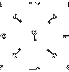 Love key pattern seamless black vector