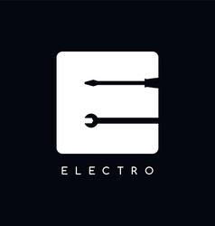 Mechanic logotype theme letter e vector