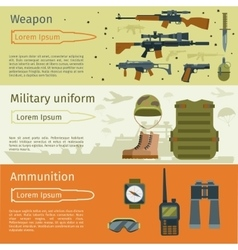 Military banners or army backgrounds set vector image vector image