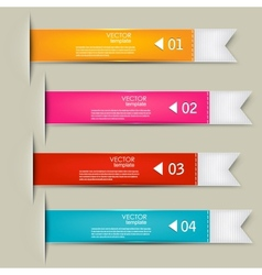 Set of bookmarks stickers labels tags Numbered vector image vector image