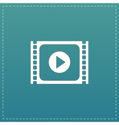 Simple media player flat icon vector