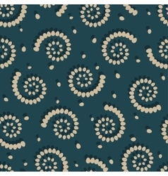 Swirls on green background seamless pattern vector image vector image