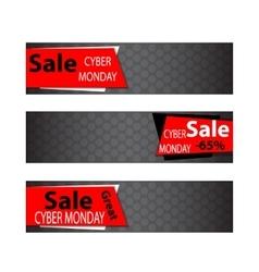 Cyber monday sales web elements vector image