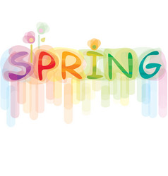 Font spring vector