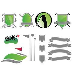 golf logos vector image vector image