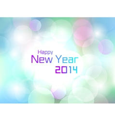 Happy New Year colorful flare light background vector image vector image