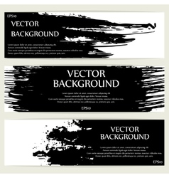 Three grunge banners vector image vector image