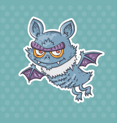 cartoon funny bat vector image vector image