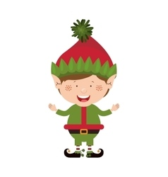 color image with christmas gnome boy vector image
