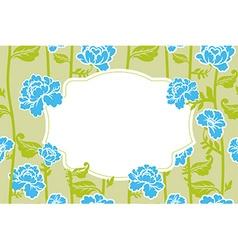 Frame rose Vintage background Old flowers pattern vector image