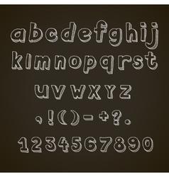 Hand drawn font retro alphabet letters vector image