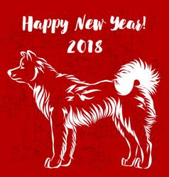image of an dog akita vector image vector image