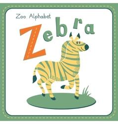 Letter Z - Zebra vector image vector image