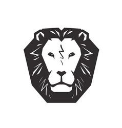 lion logo animal wildlife symbol or icon vector image