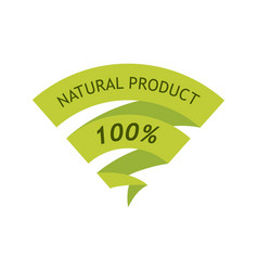 natural product 100 percent vector image vector image