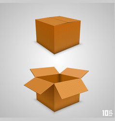 Paper box open and closed vector