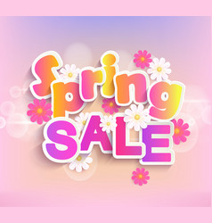 spring sale label 50 percent discount vector image vector image