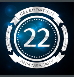 twenty two years anniversary celebration with vector image