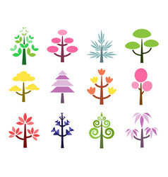cute tree vector image