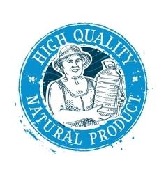 Drinking water logo design template bottle vector
