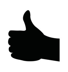 silhouette like man hand gesture vector image
