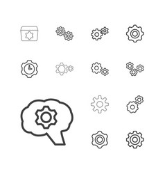 13 cog icons vector image