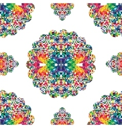 Abstract mosaic colorful seamless background vector image