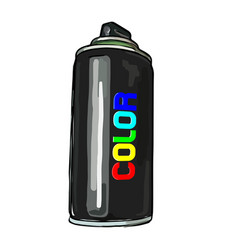 Aerosol paint in a cylinder vector