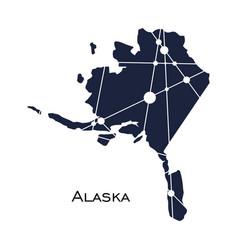 alaska state map vector image
