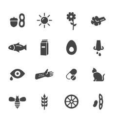 Allergy Icons vector