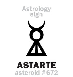 Astrology asteroid astarte vector