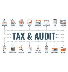 Auditing tax accounting banner vector