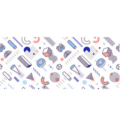 background geometric shapes geometrical style vector image