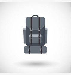 Backpack flat icon vector