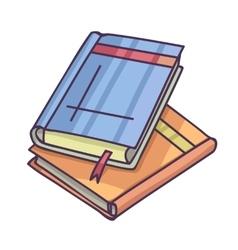 Books and pics albums pile pictures album vector