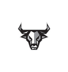 Bull Cow Head Low Polygon vector image