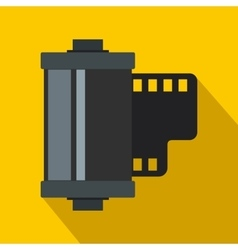 Camera film roll icon flat style vector