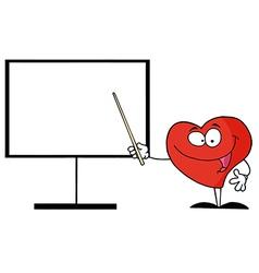 Cartoon heart teaching vector